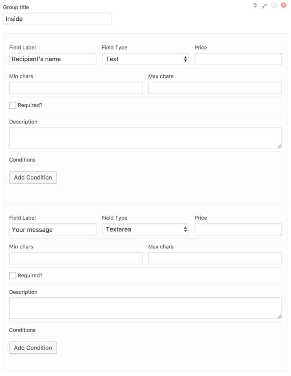 Personalize WooCommerce products - back end settings