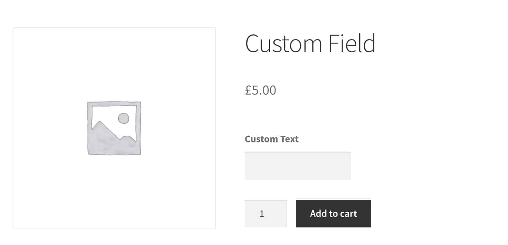 WooCommerce custom field frontend