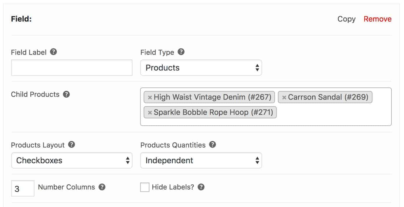 Complete the look panel WooCommerce