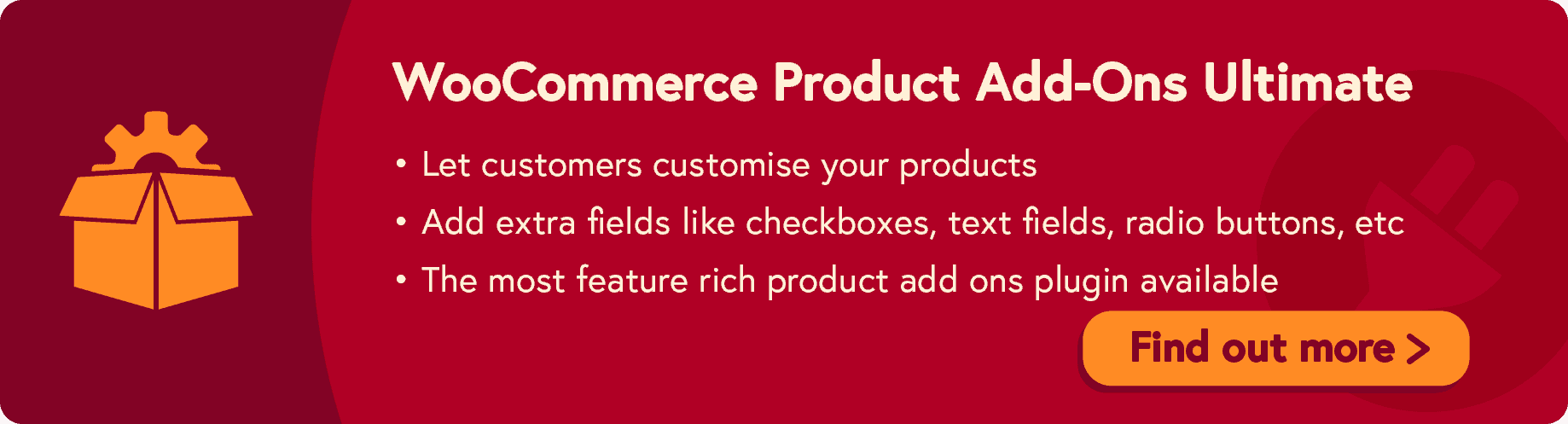 WooCommerce custom product add-ons plugin