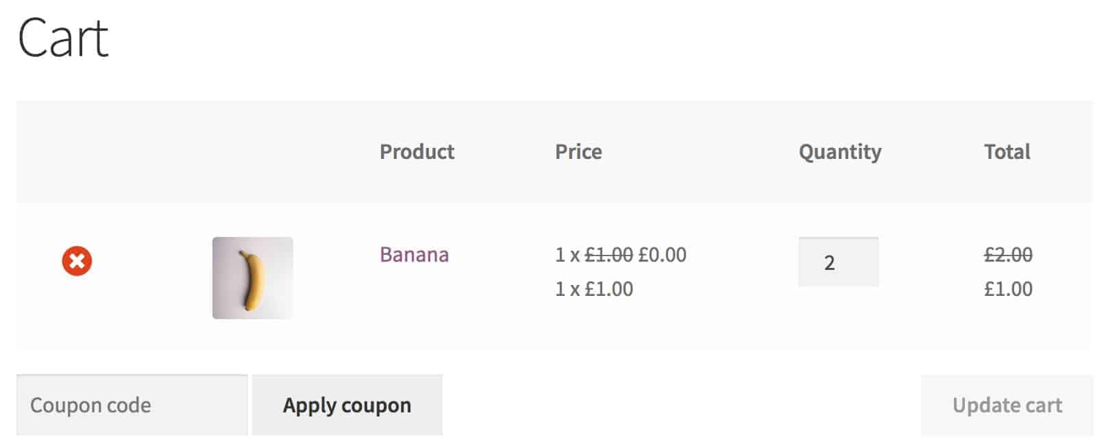 WooCommerce dynamic pricing rule in cart - buy one get one free
