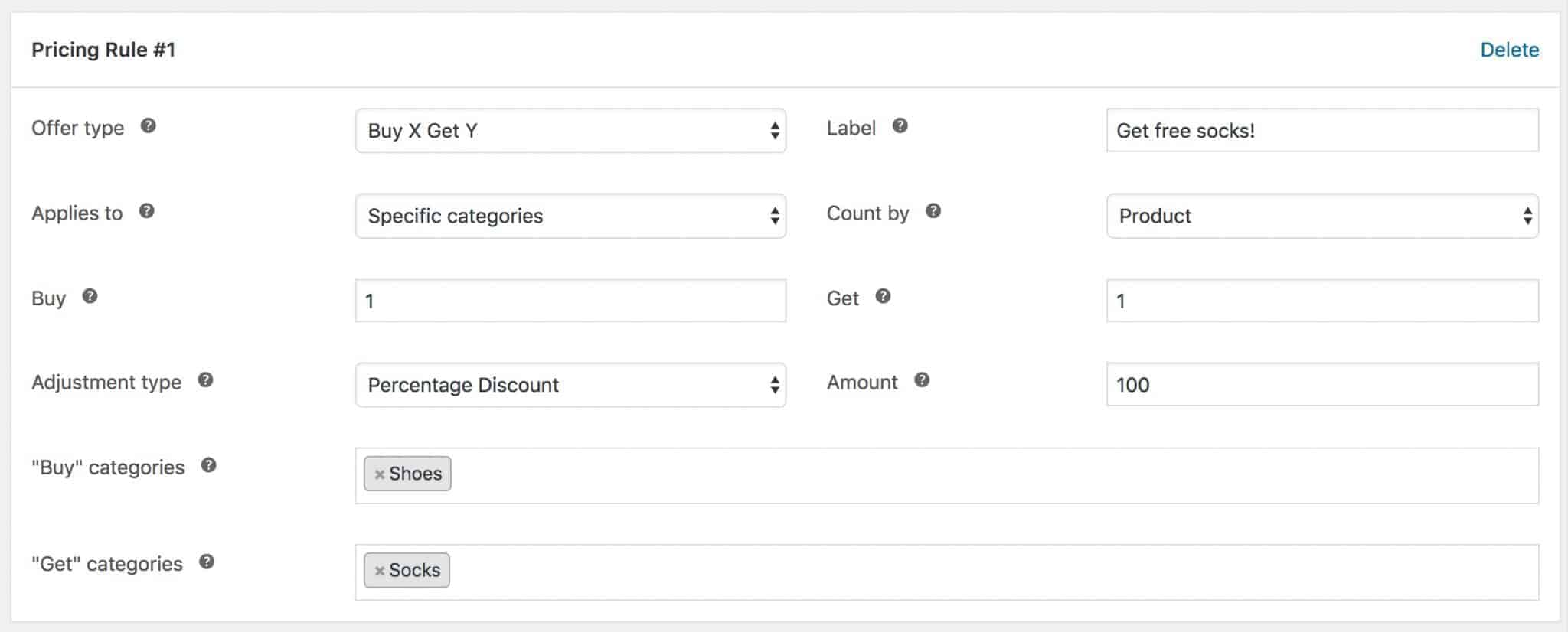 WooCommerce category based pricing