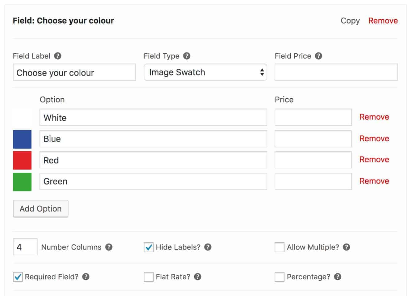 WooCommerce image swatch field
