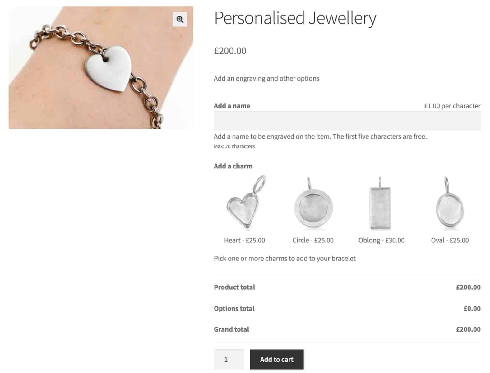 WooCommerce product customizer for jewellery designer