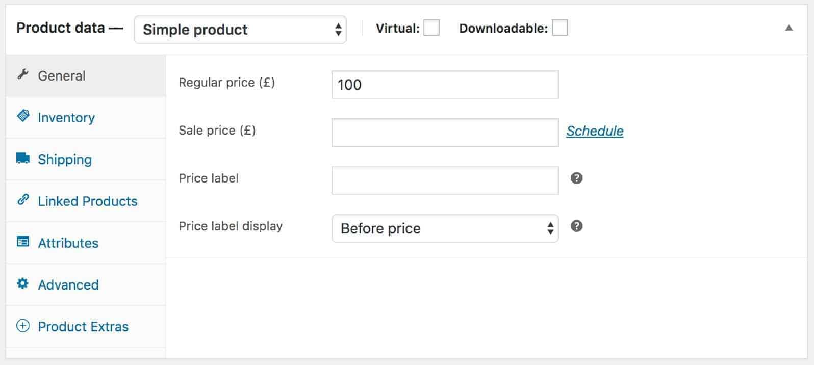 WooCommerce mixed case fixed price settings