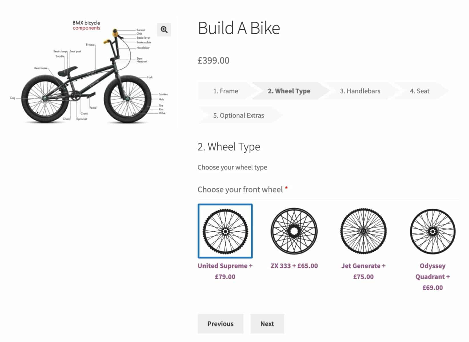 Build a bike composite product in WooCommerce