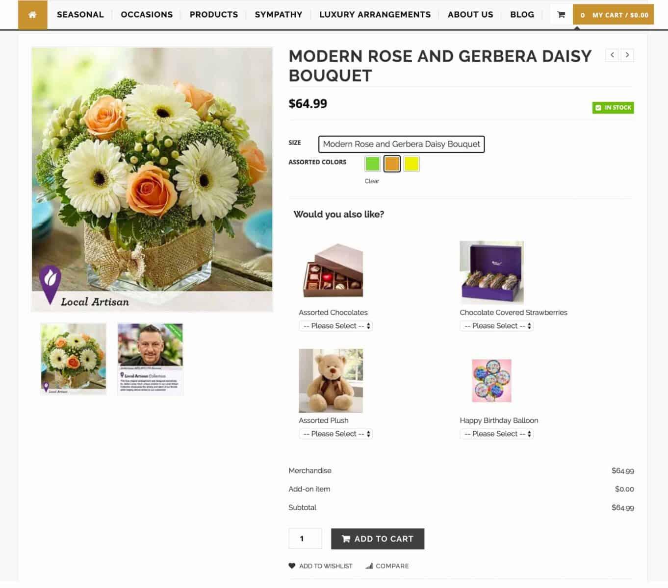 Polished Petals - florist website