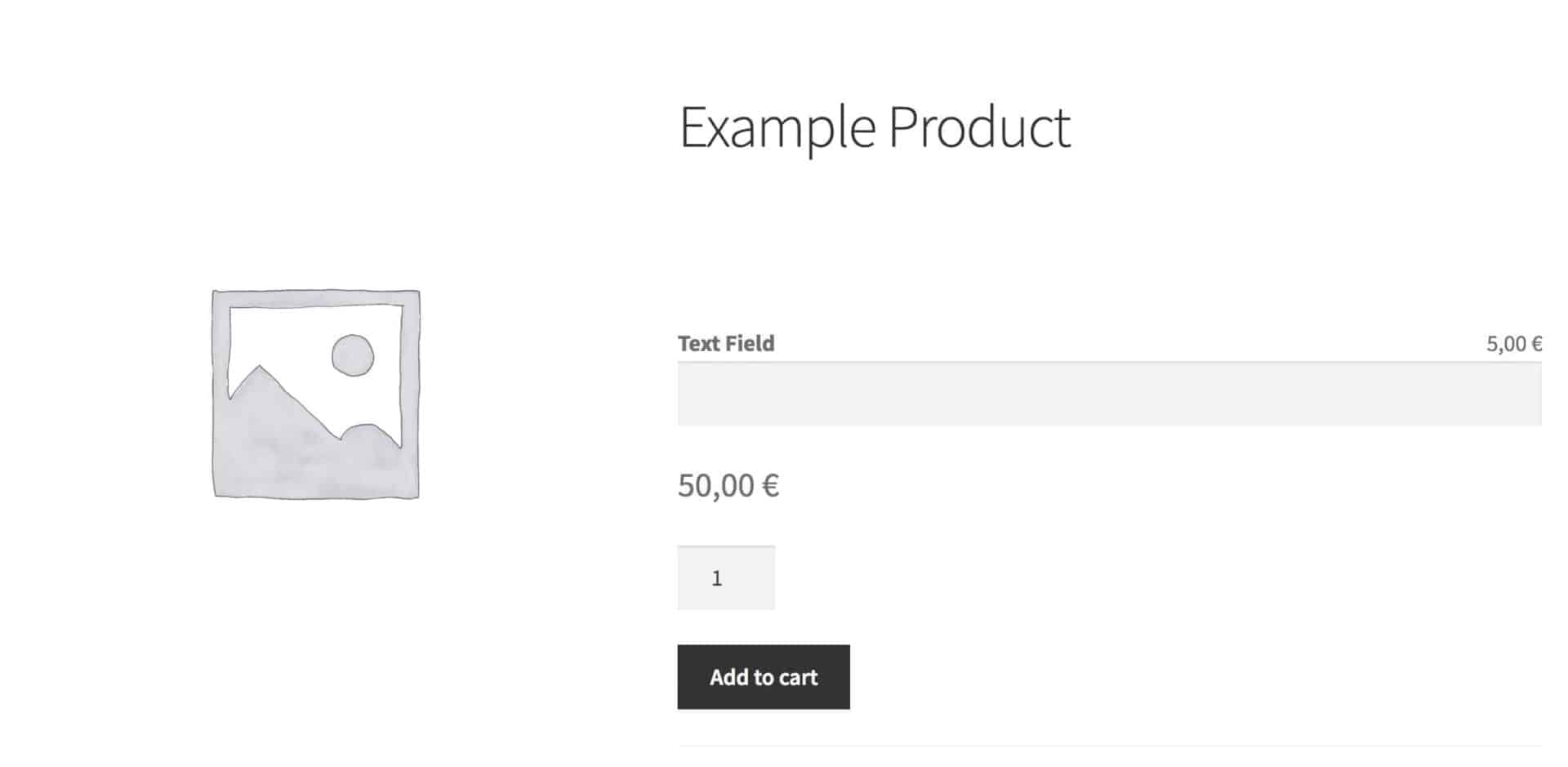 WooCommerce extra price field - text field with additional cost