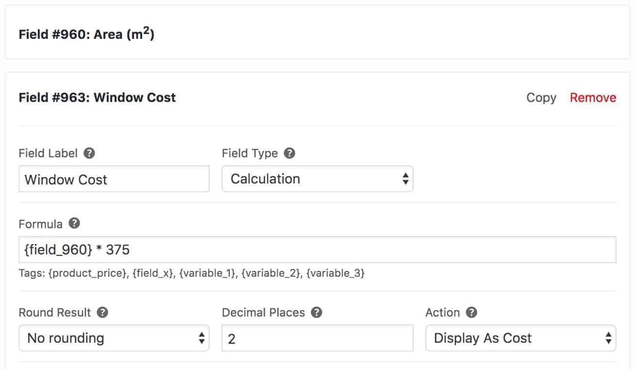 Product cost calculator