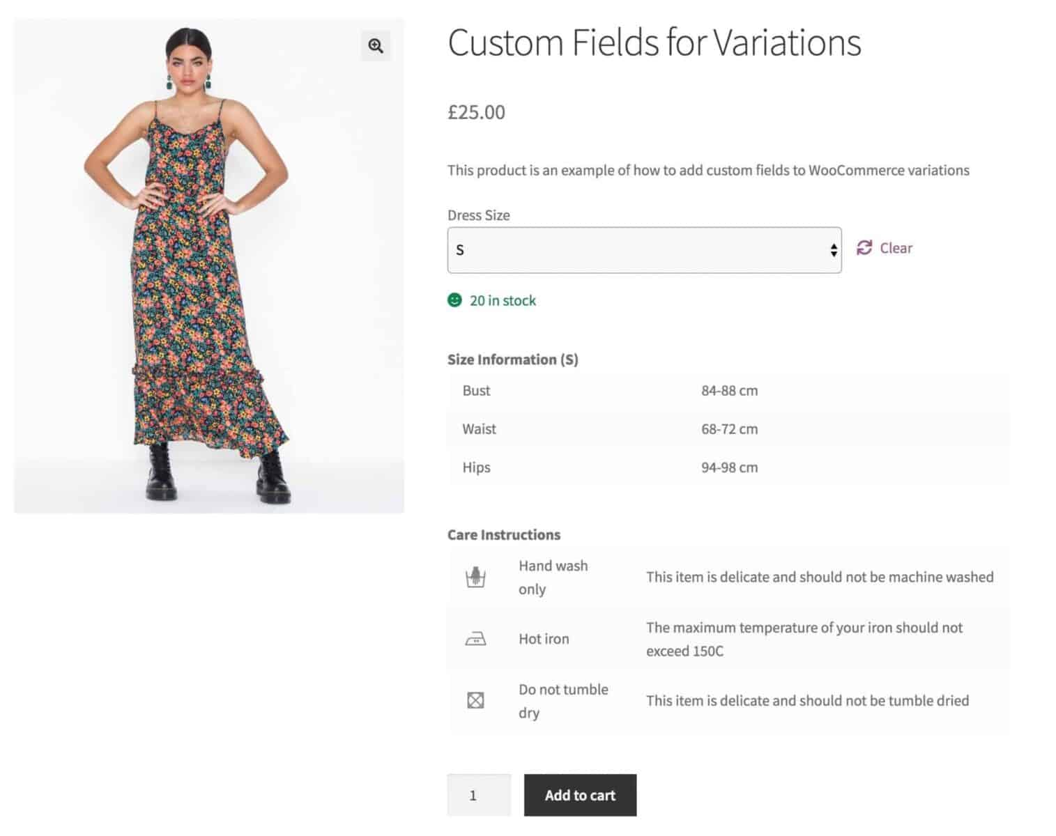 WooCommerce custom fields for variations