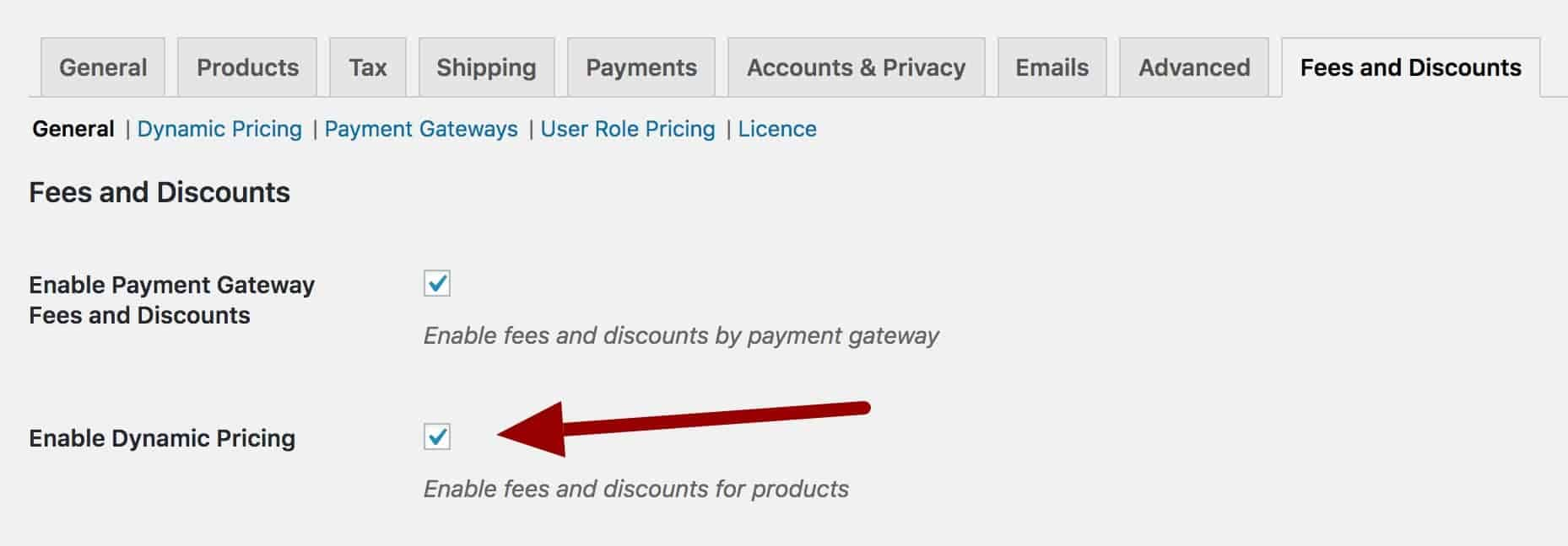 WooCommerce enable dynamic pricing