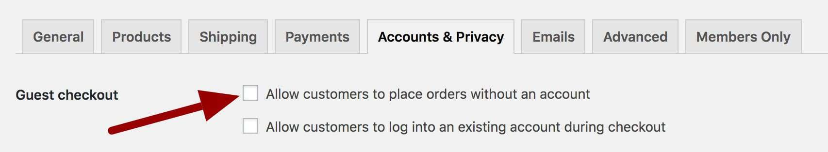 WooCommerce disable guest checkout