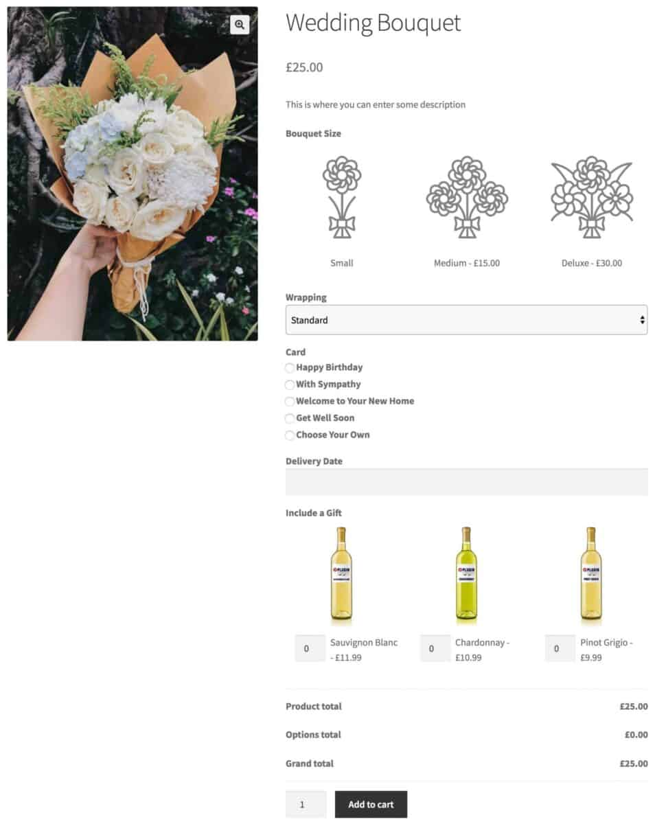 WooCommerce flower shop - finished product