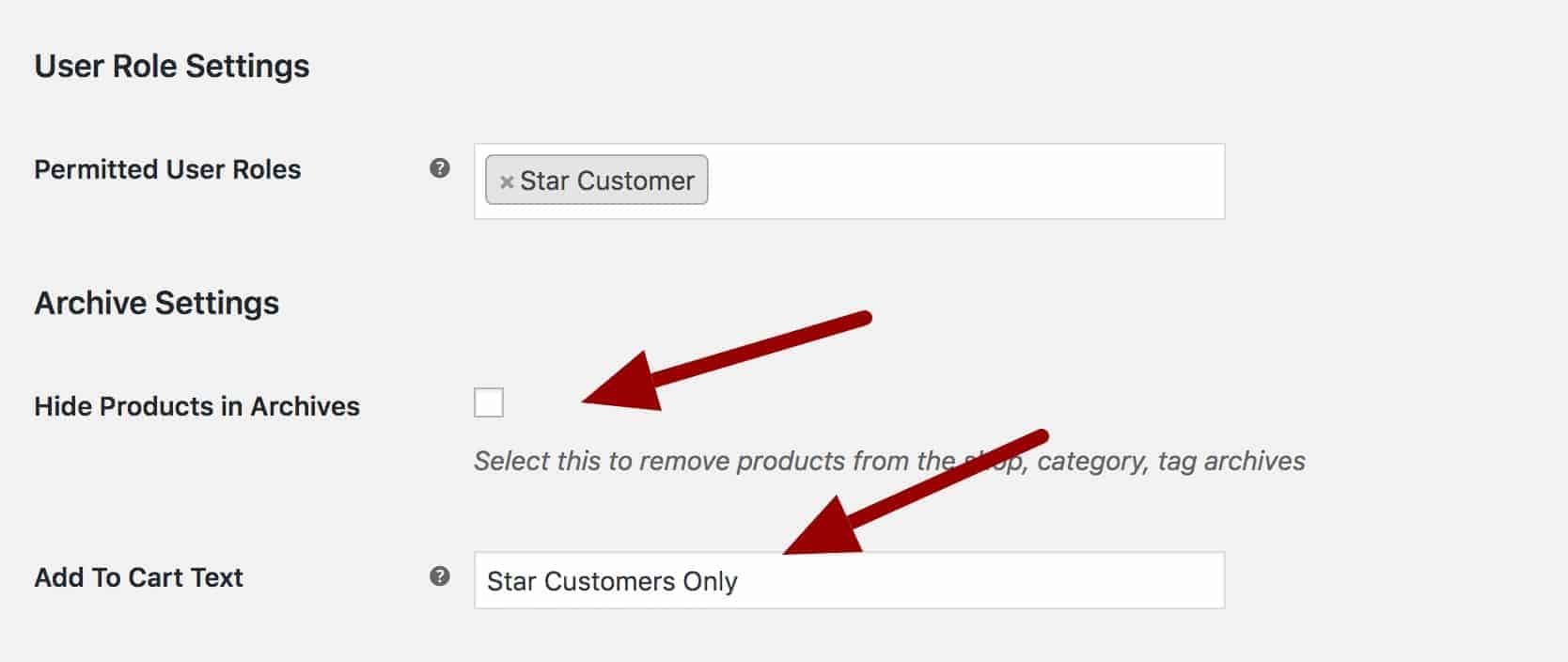 WooCommerce change hidden products add to cart button text