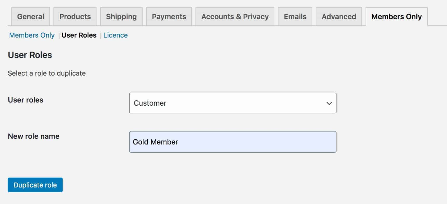 WooCommerce memberships - duplicate user role