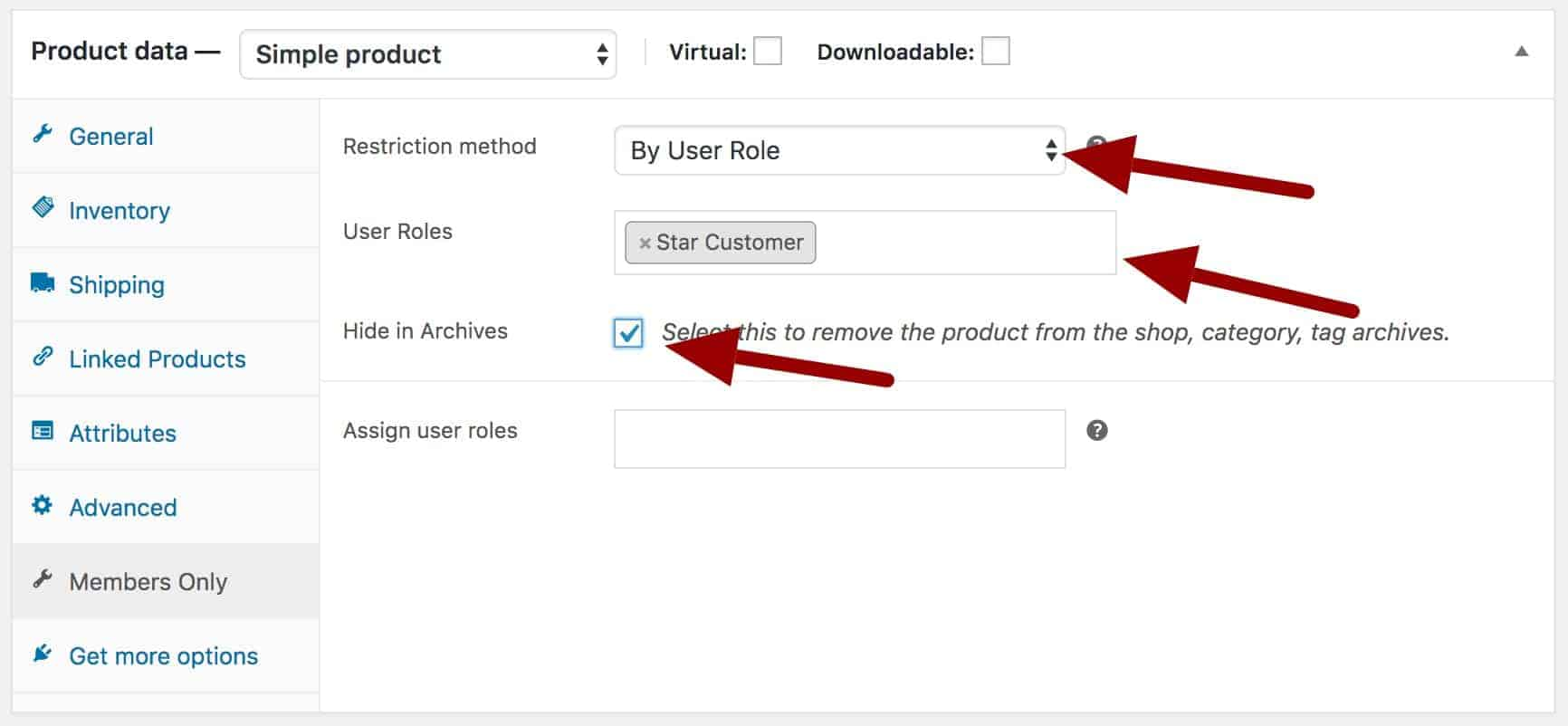WooCommerce hide product by user role