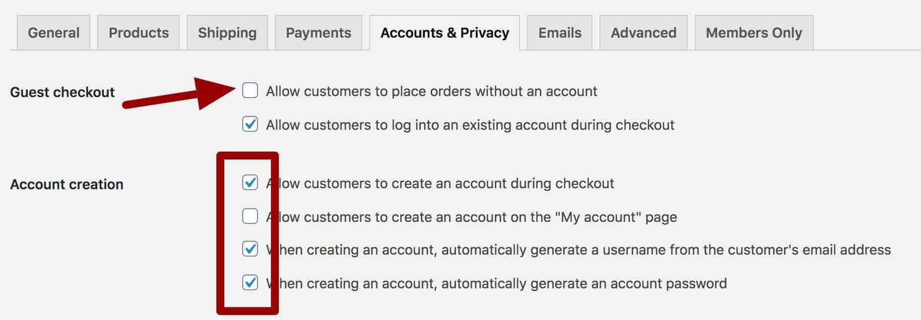 WooCommerce memberships - account creation