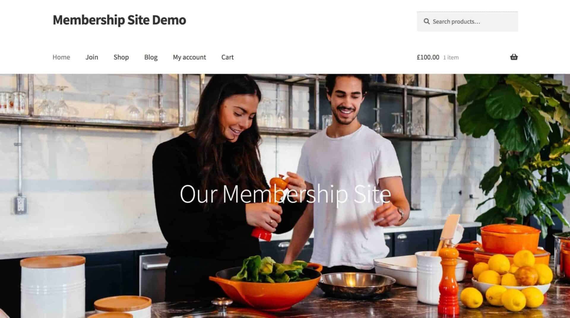 WooCommerce memberships demo site