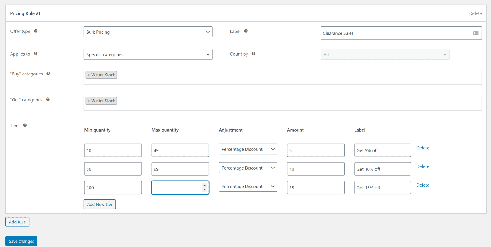 WooCommerce Fees and Discounts settings for selling seasonal products