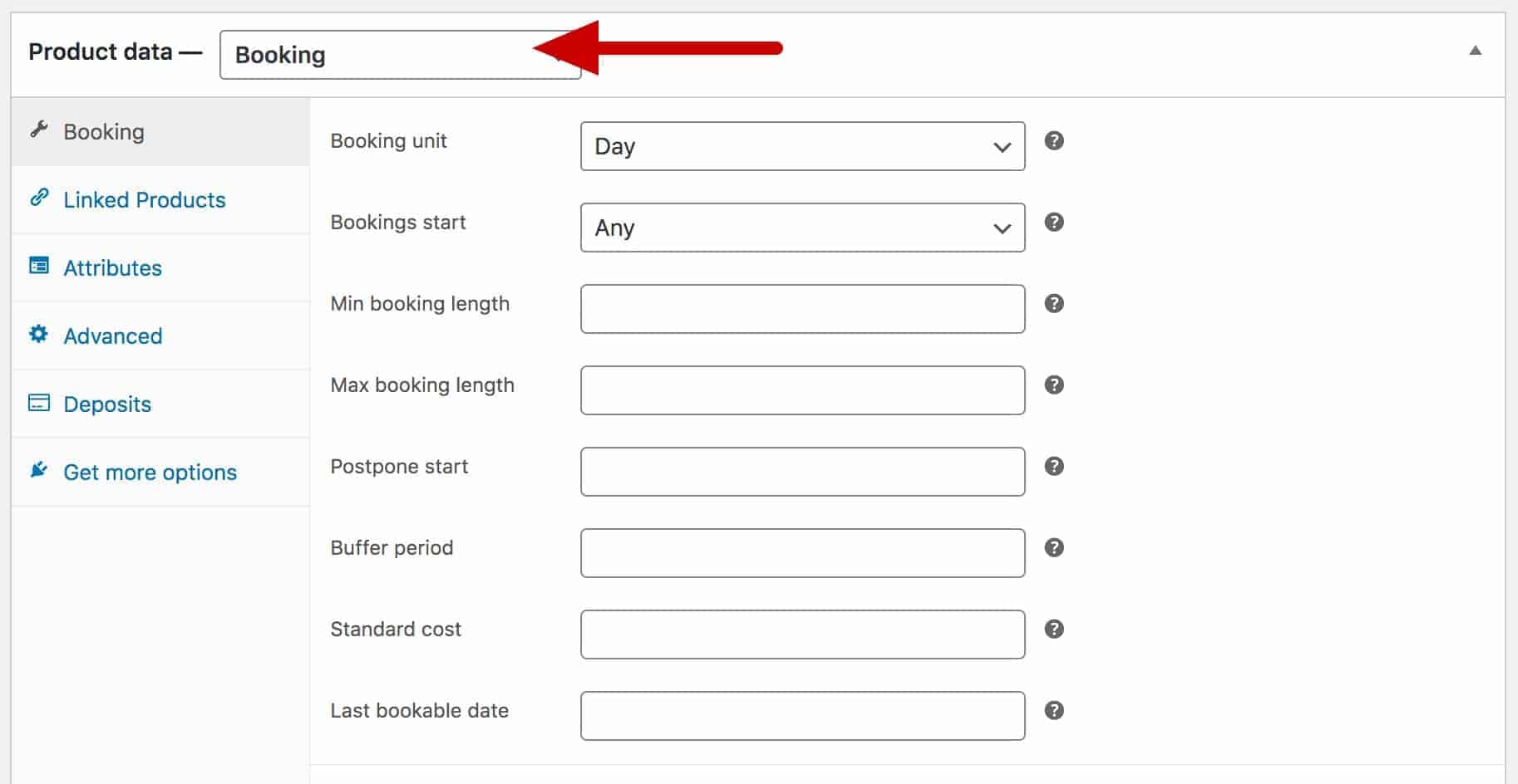 WooCommerce bookable product type