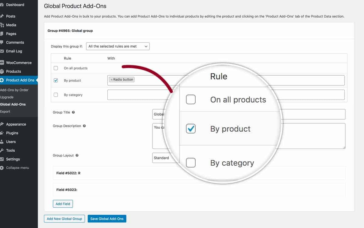 WooCommerce Product Add-Ons Ultimate global settings
