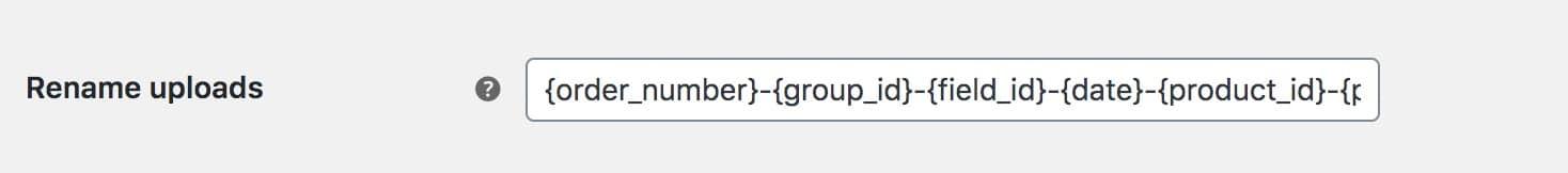 WooCommerce rename uploaded files