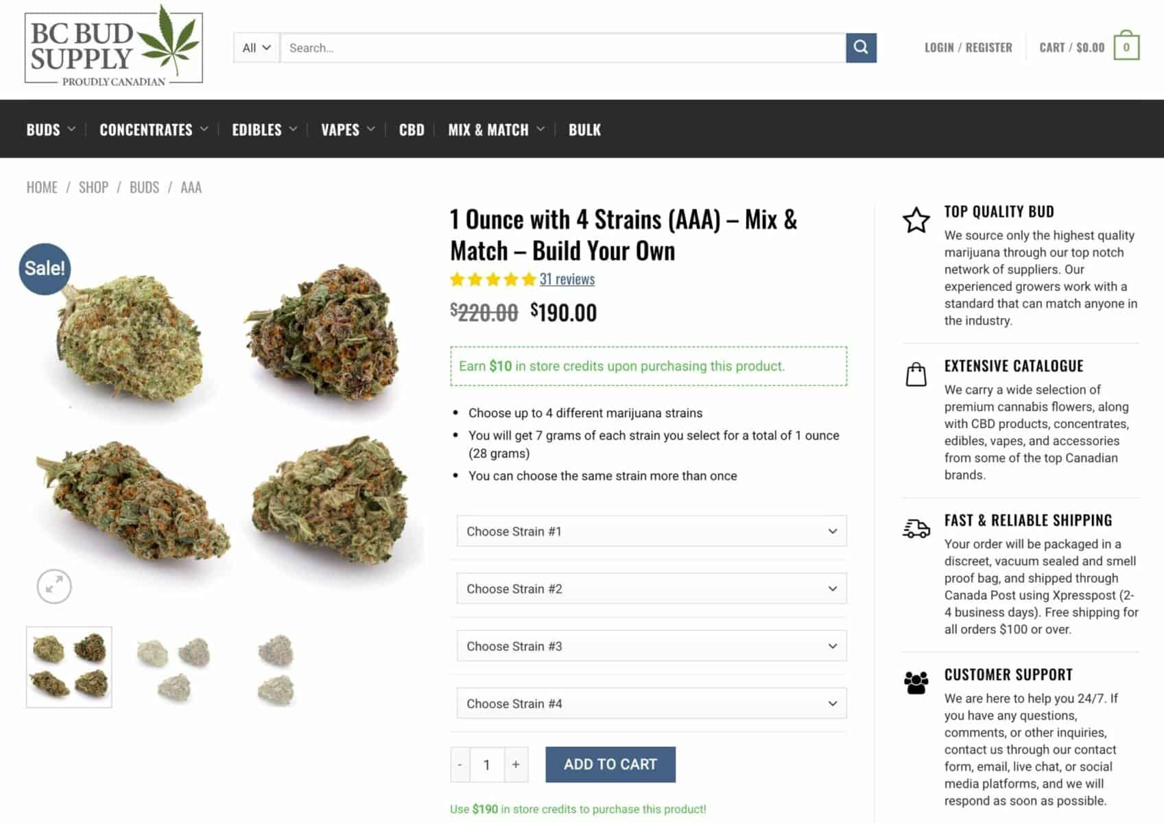 Cannabis product bundles in WooCommerce