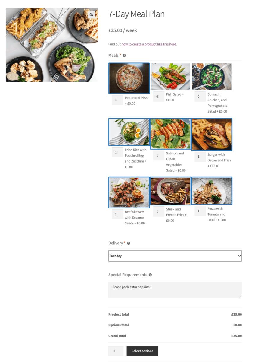 Custom subscription box product