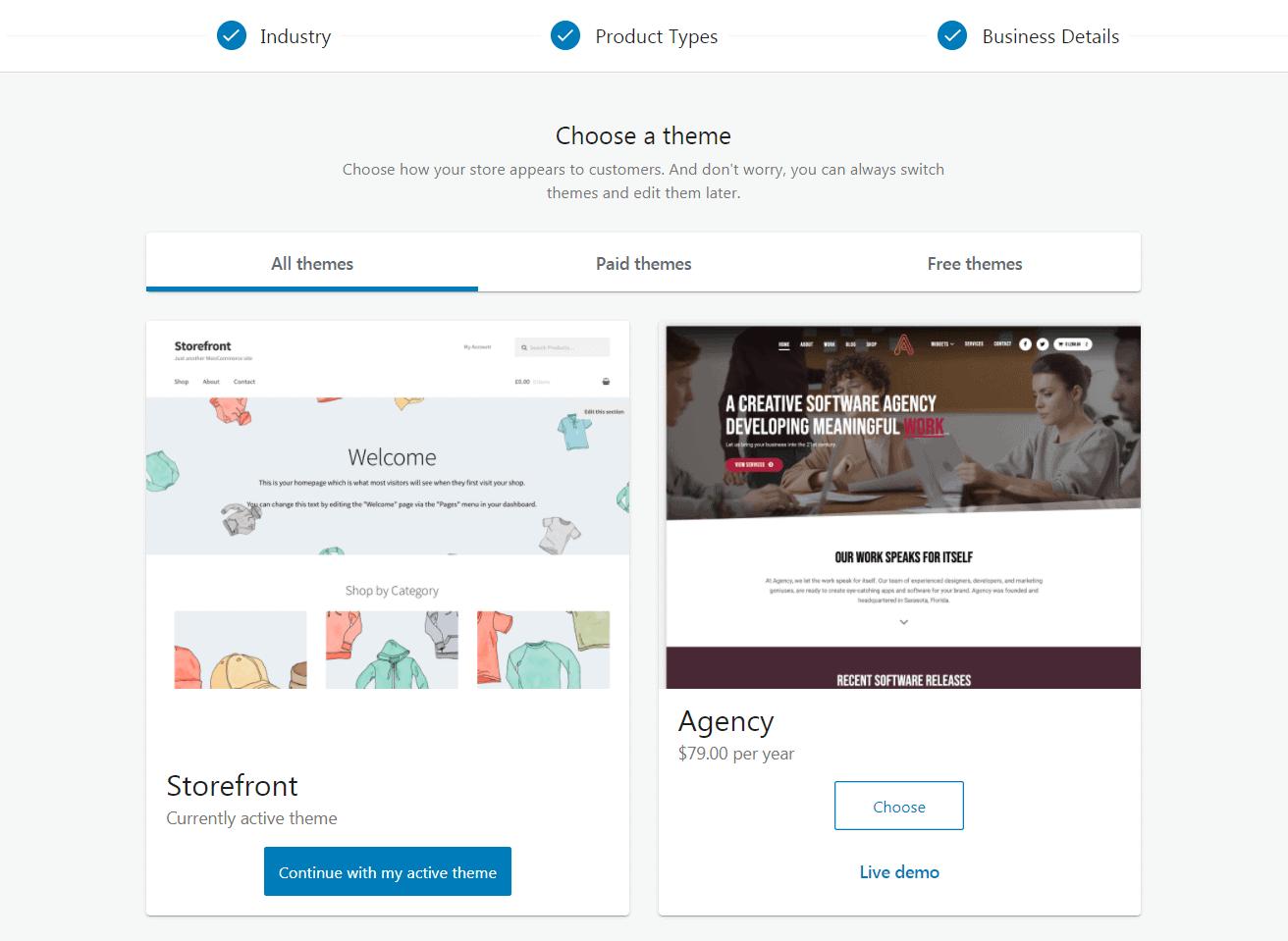 Choosing a WooCommerce theme.
