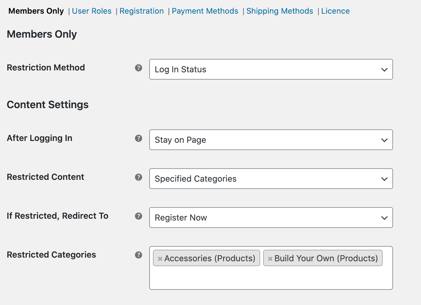 Hide category from logged in users