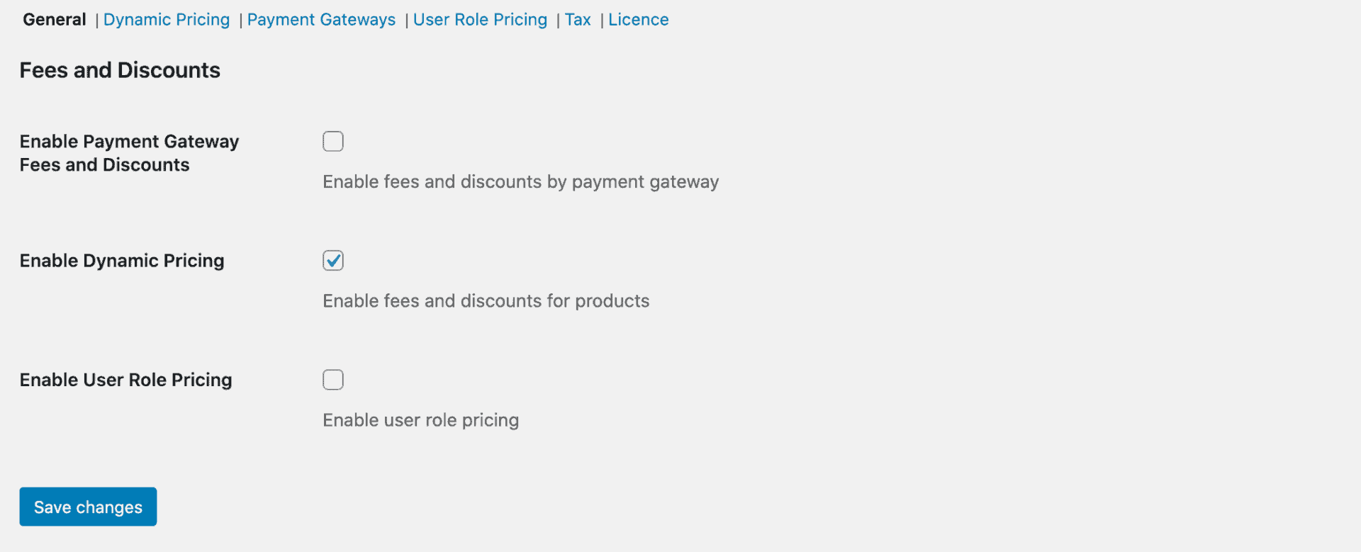 Enable dynamic pricing