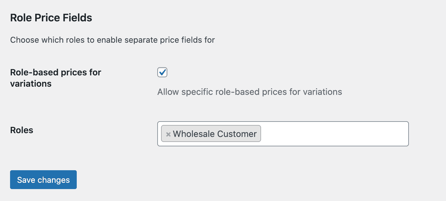 Role price variations