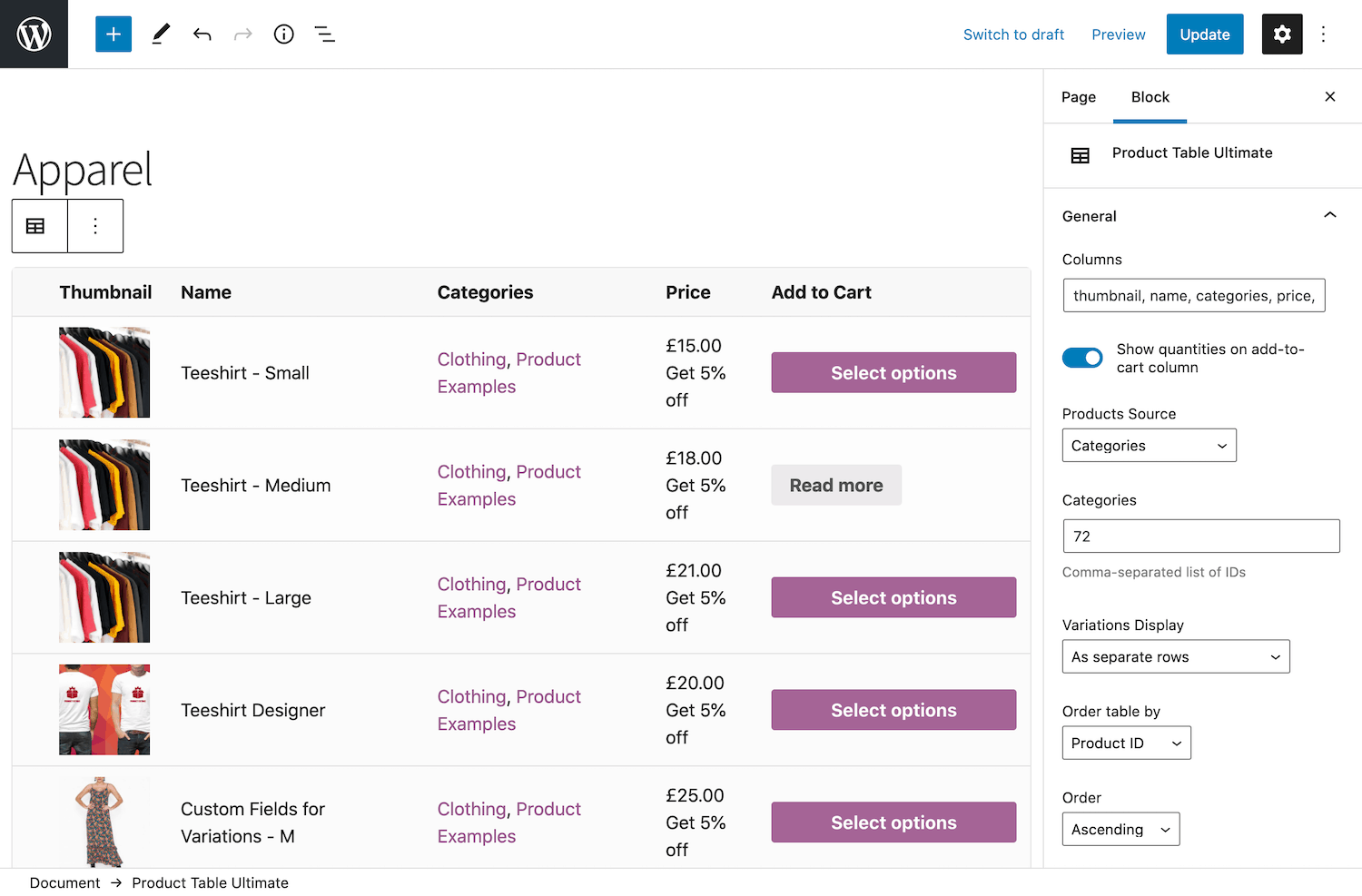 Custom WooCommerce category page
