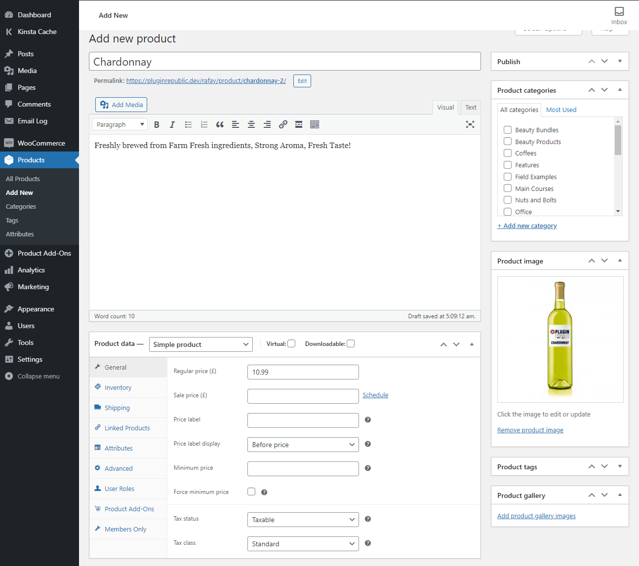 Add products WooCommerce