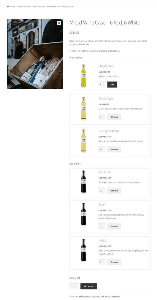 Fixed product bundles