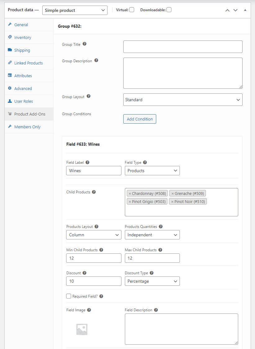 Variable bundle settings