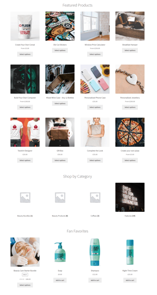Shop page preview permitted users