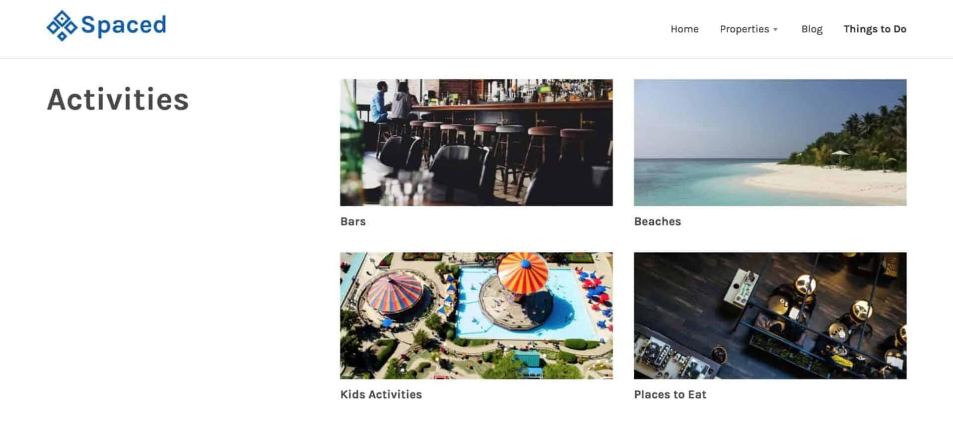Activities post type WordPress