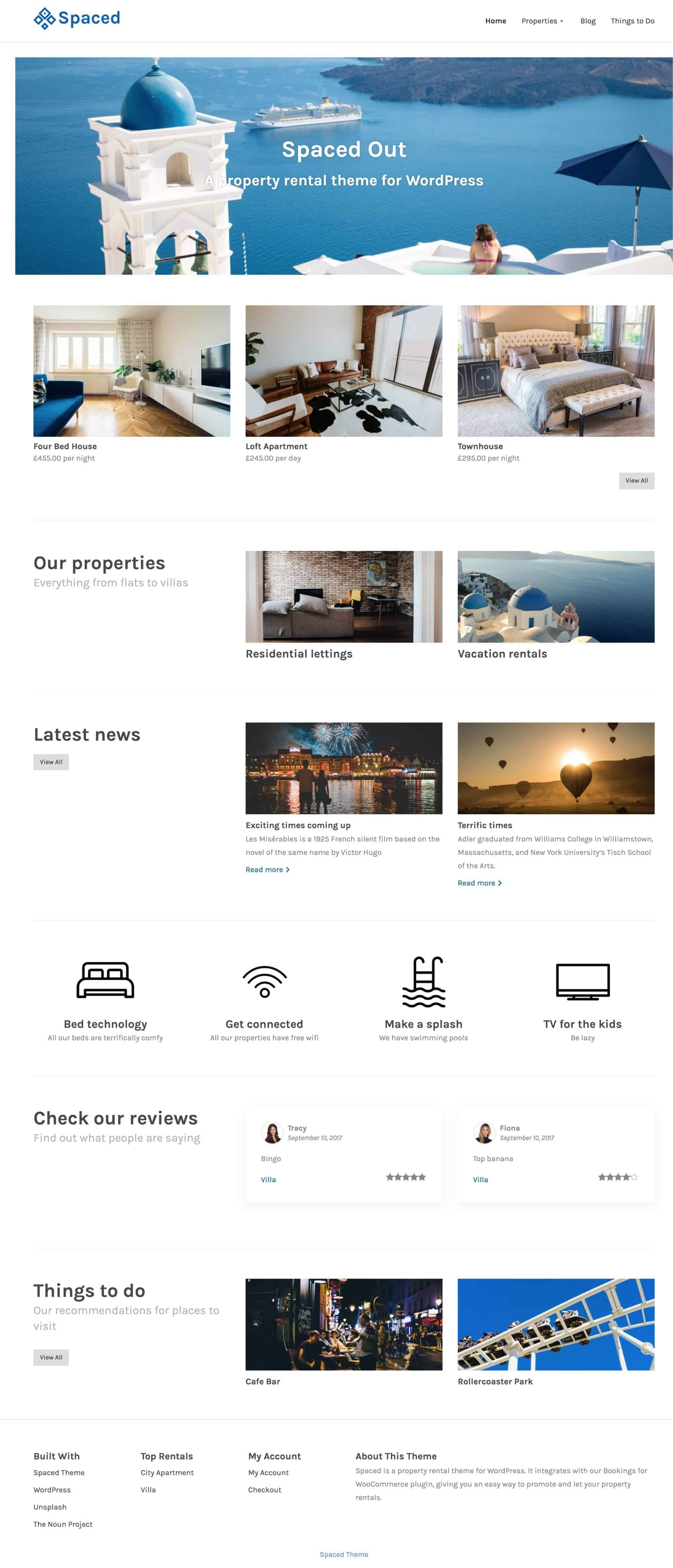 Property rental theme for WordPress